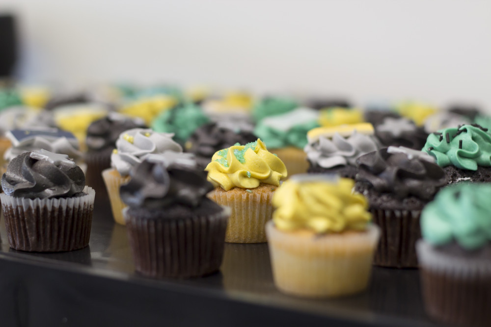 LendInvest rebranding party- cupcakes from crumbs and doilies